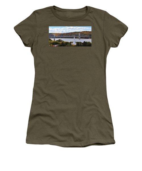 Mount Carmel And The Mid Hudson Bridge Women's T-Shirt