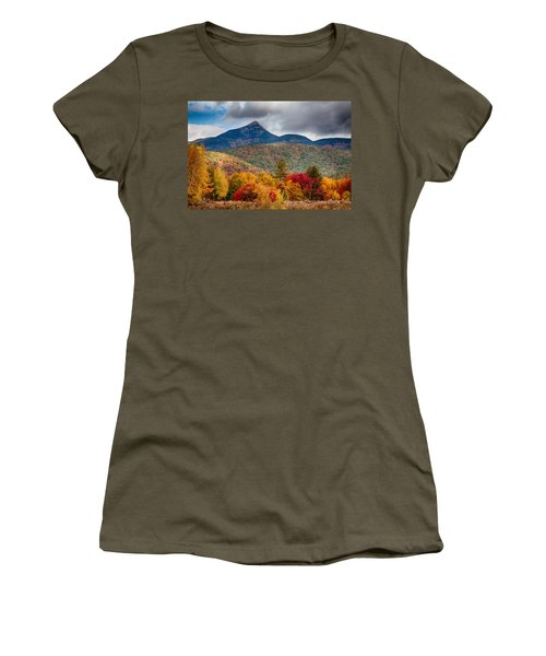 Women's T-Shirt featuring the photograph Peak Fall Colors On Mount Chocorua by Jeff Folger