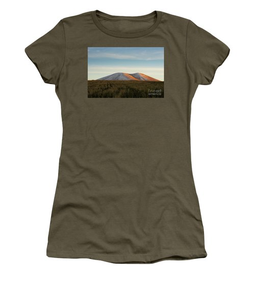 Mount Gutanasar In Front Of Wheat Field At Sunset, Armenia Women's T-Shirt (Junior Cut) by Gurgen Bakhshetsyan