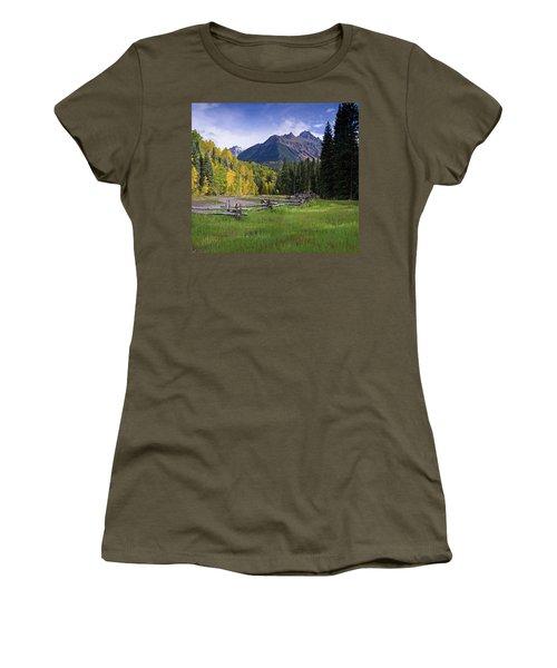 Mount Sneffels In Autumnn Women's T-Shirt (Athletic Fit)