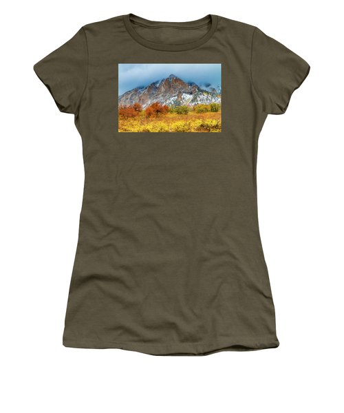 Mountain Autumn Color Women's T-Shirt (Junior Cut) by Teri Virbickis