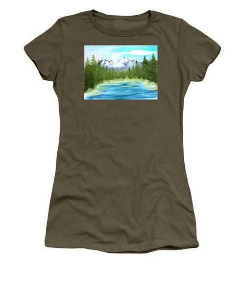 Mountain Imagining Women's T-Shirt (Athletic Fit)