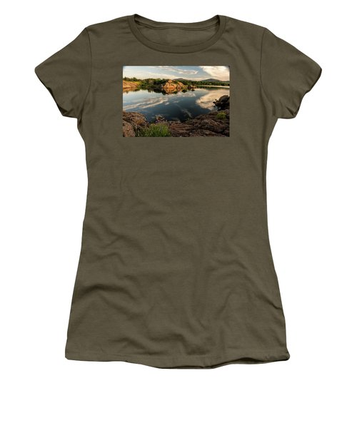 Mountain Lake Women's T-Shirt (Athletic Fit)
