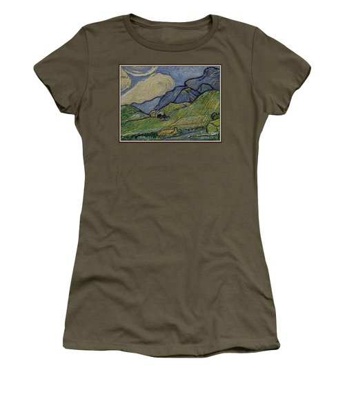 Mountain Landscape Women's T-Shirt (Junior Cut) by Pemaro