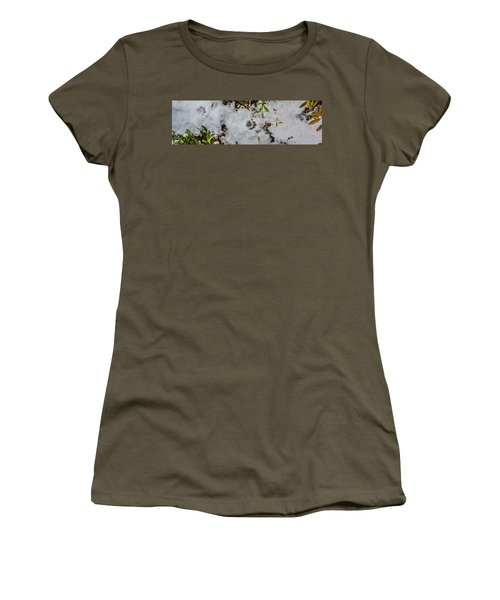 Mountain Lion Tracks In Snow Women's T-Shirt