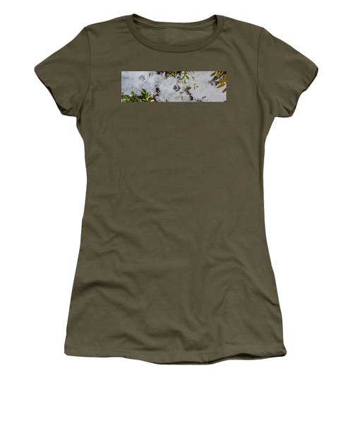 Mountain Lion Tracks In Snow Women's T-Shirt