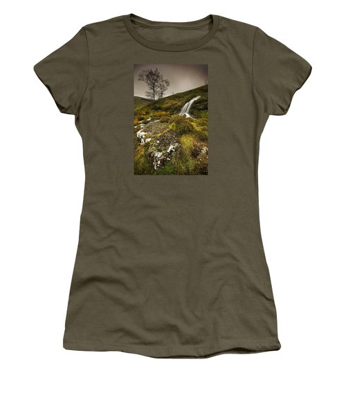 Women's T-Shirt (Junior Cut) featuring the photograph Mountain Tears by John Chivers