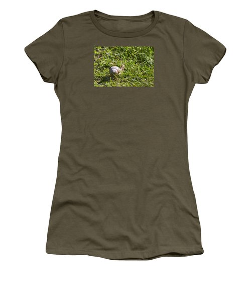 Women's T-Shirt (Junior Cut) featuring the photograph Moving by Leif Sohlman