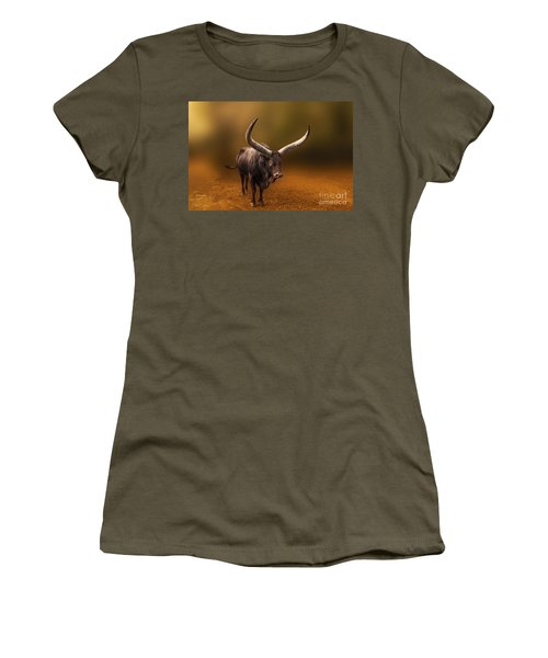 Mr. Bull From Africa Women's T-Shirt (Athletic Fit)