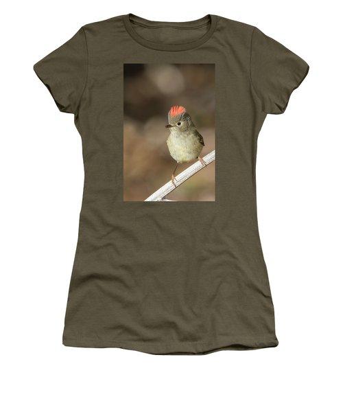Women's T-Shirt (Junior Cut) featuring the photograph Mr Kinglet  by Mircea Costina Photography