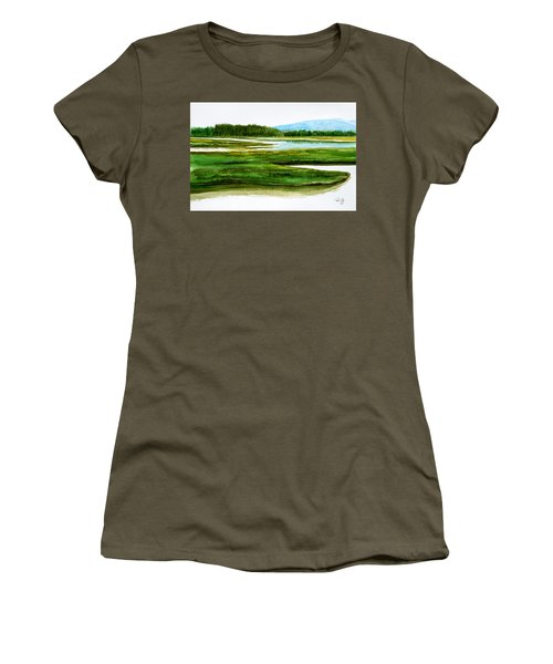 Mt Desert Island Women's T-Shirt (Athletic Fit)