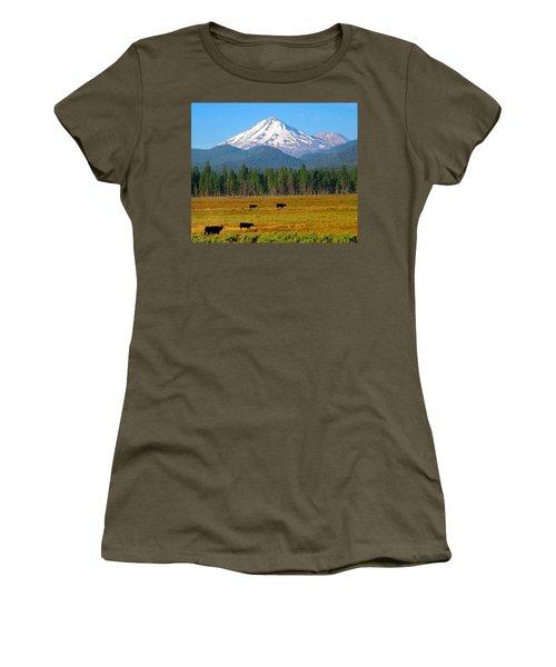 Mt. Shasta Morning Women's T-Shirt (Junior Cut) by Betty Buller Whitehead