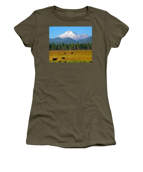 Mt. Shasta Morning Women's T-Shirt (Athletic Fit)