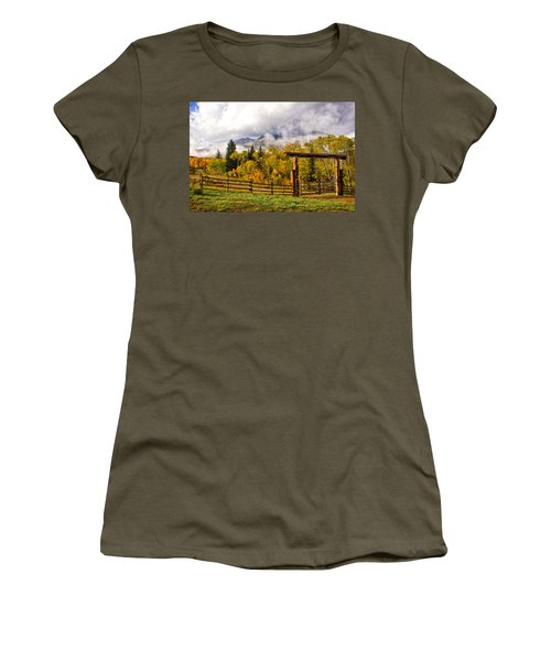 Mt Sopris Under The Clouds Women's T-Shirt (Junior Cut) by Ronda Kimbrow