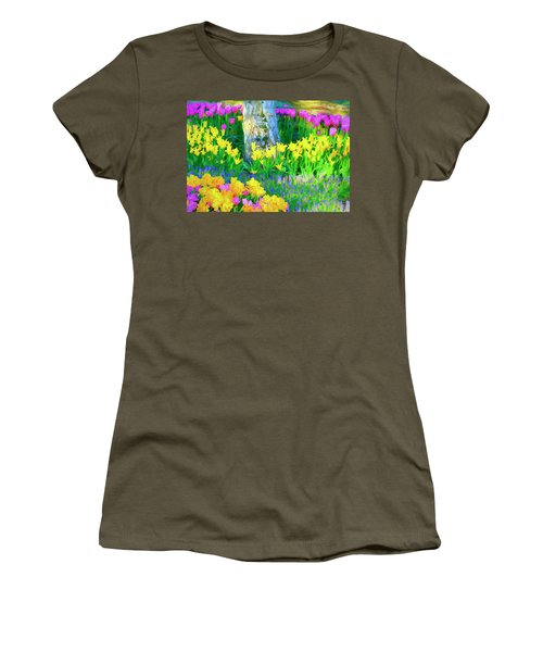 Mt Vernon Tulip Garden 1 Women's T-Shirt (Athletic Fit)
