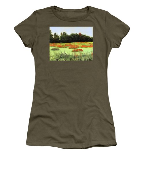 Mud Lake Marsh Women's T-Shirt (Athletic Fit)