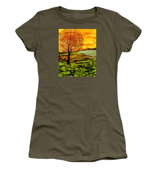 Muddy Fall Women's T-Shirt (Athletic Fit)