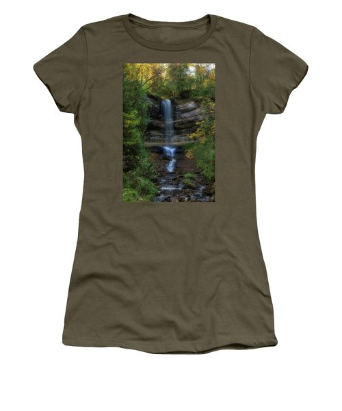 Women's T-Shirt featuring the photograph Munising Falls by Heather Kenward