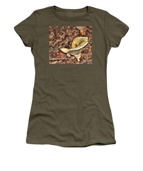 Women's T-Shirt (Athletic Fit) featuring the photograph Mushroom by Debbie Stahre