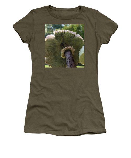 Women's T-Shirt (Junior Cut) featuring the photograph Mushroom Down Under  by Bruce Bley