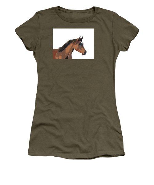 Women's T-Shirt (Junior Cut) featuring the digital art Music Notes 26 by David Bridburg