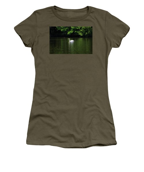 Women's T-Shirt (Junior Cut) featuring the photograph Mute Swan by Sandy Keeton