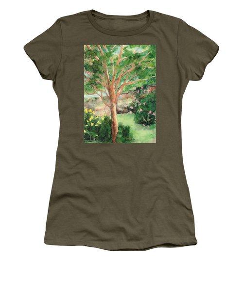 Women's T-Shirt (Junior Cut) featuring the painting My Backyard by Vicki  Housel