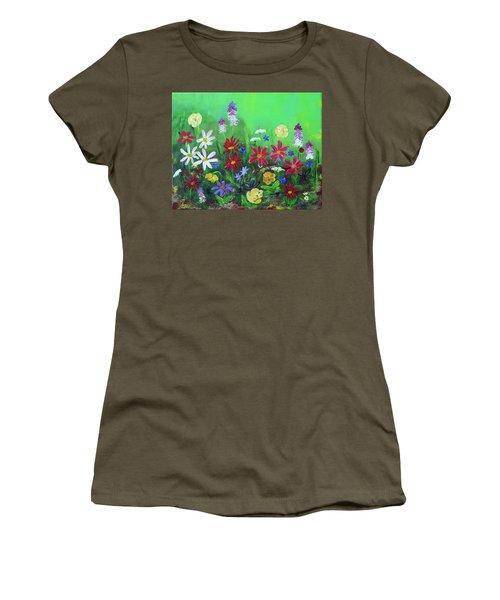 My Happy Garden 2 Women's T-Shirt (Junior Cut) by Haleh Mahbod
