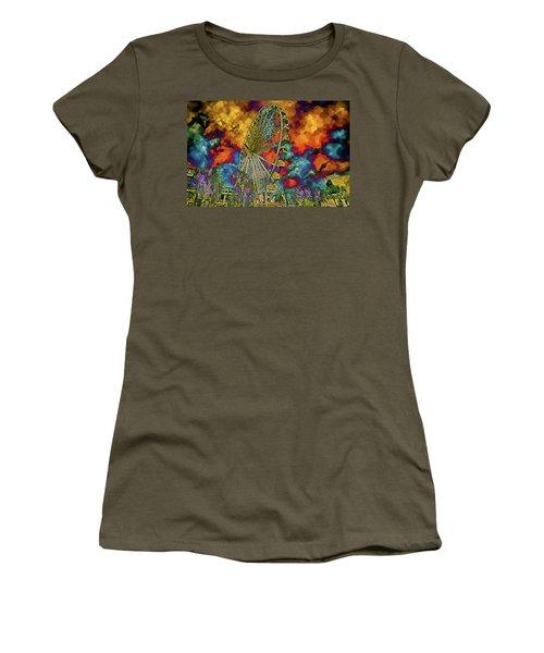 Myrtle Beach Skywheel Abstract Women's T-Shirt (Junior Cut) by Bill Barber