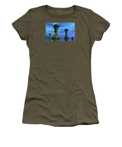 Mysterious Islands Women's T-Shirt (Junior Cut) by Mark Blauhoefer