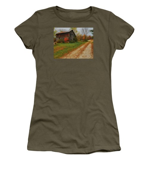 Mystical Country Lane  Women's T-Shirt (Athletic Fit)