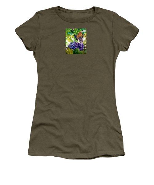 Napa Harvest Women's T-Shirt (Junior Cut) by Lance Gebhardt