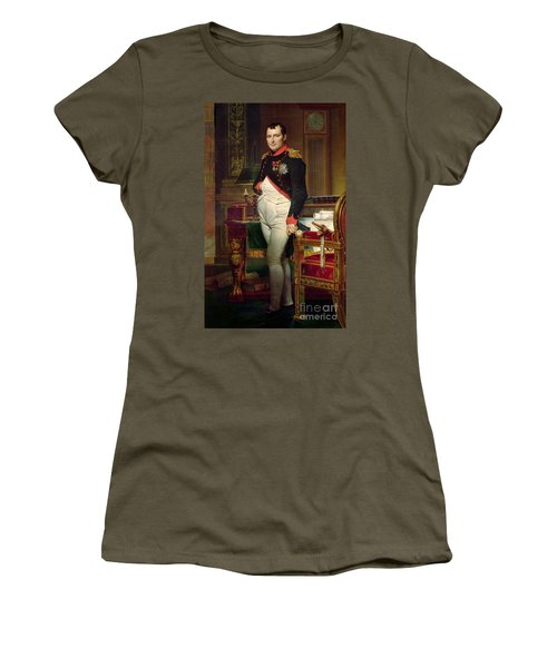 Napoleon Bonaparte In His Study At The Tuileries, 1812 Women's T-Shirt