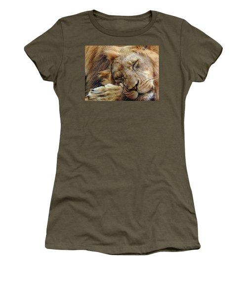 Napping Women's T-Shirt (Junior Cut) by Lisa L Silva