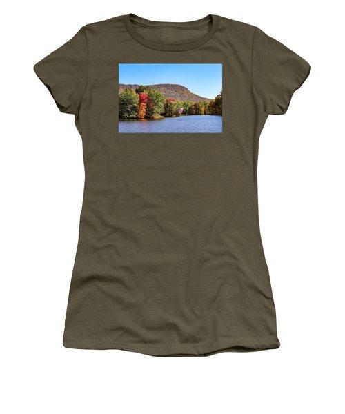Nashawannuck Pond Fall Colors Women's T-Shirt