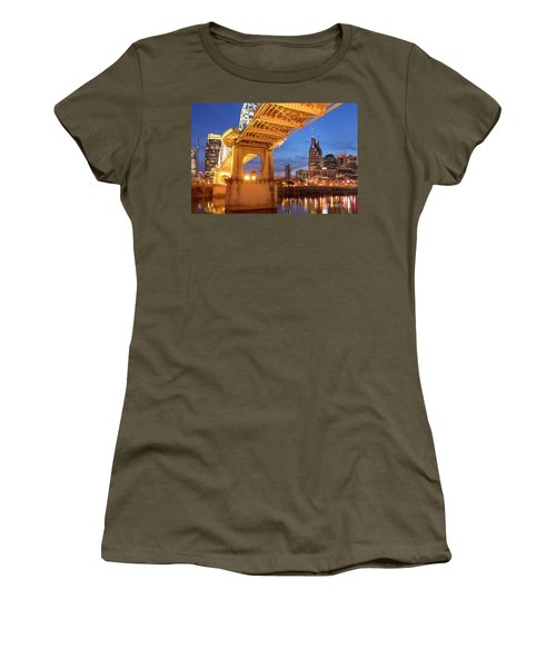Women's T-Shirt (Junior Cut) featuring the photograph Nashville Bridge IIi by Brian Jannsen