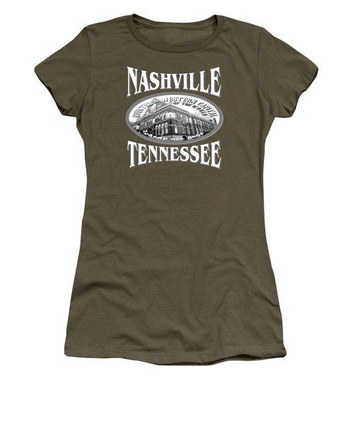 Nashville Tennessee Tshirt Design Women's T-Shirt (Junior Cut) by Art America Gallery Peter Potter