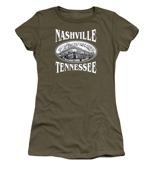 Nashville Tennessee Design Women's T-Shirt (Athletic Fit)