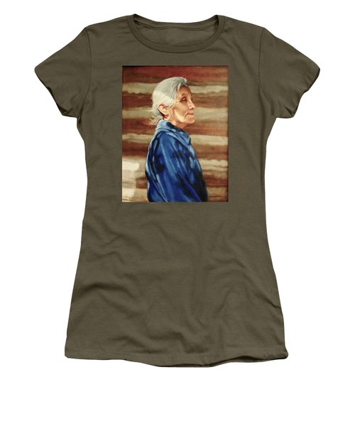 Native American Women's T-Shirt (Junior Cut) by Janet McGrath