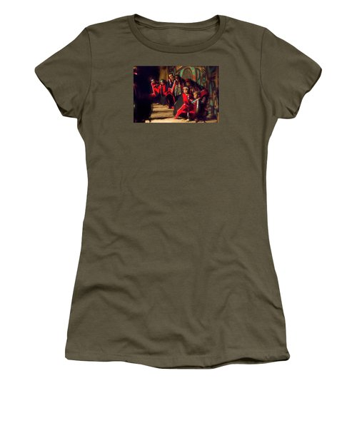 Native Dancers Women's T-Shirt (Junior Cut) by Lewis Mann