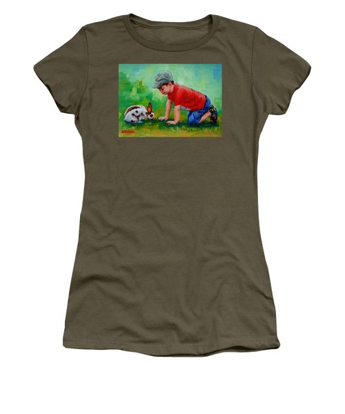 Women's T-Shirt (Junior Cut) featuring the painting Natural Wonder by Margaret Stockdale