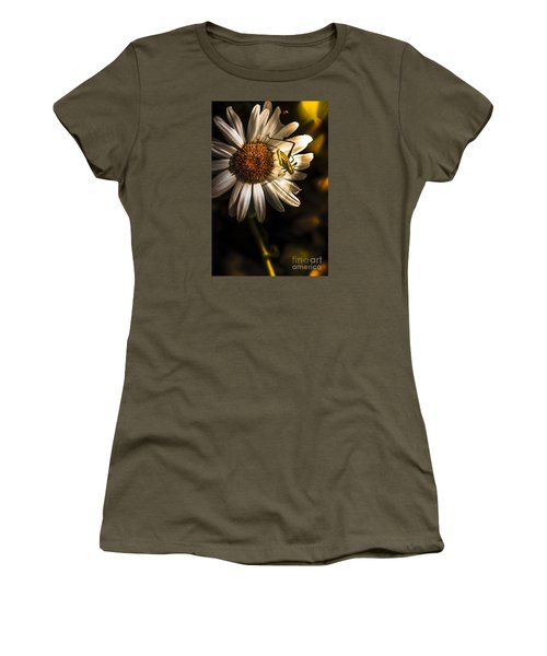 Nature Fine Art Summer Flower With Insect Women's T-Shirt (Athletic Fit)
