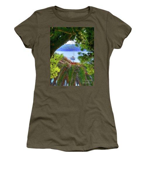 Nature Framed Boat Women's T-Shirt