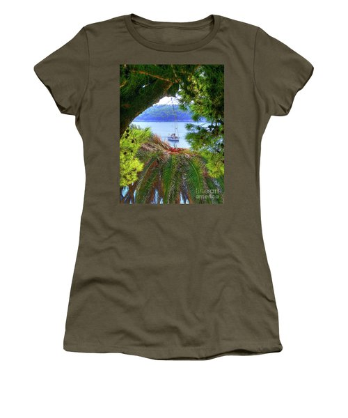 Nature Framed Boat Women's T-Shirt