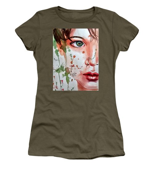 Women's T-Shirt featuring the painting Nature's Child  by Michal Madison