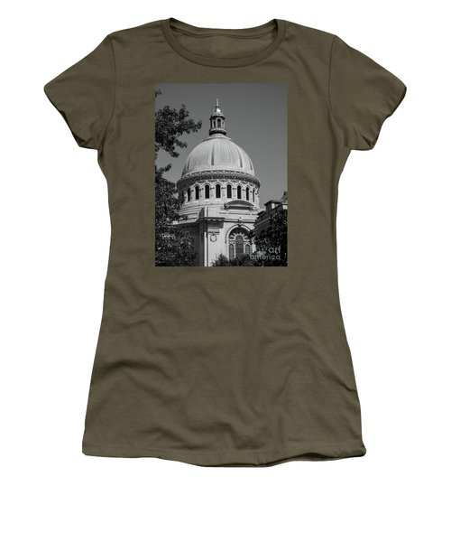 Naval Academy Chapel - Black And White Women's T-Shirt