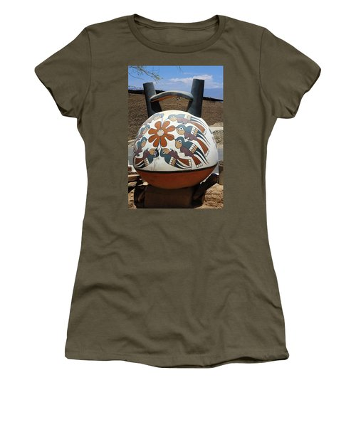 Women's T-Shirt (Junior Cut) featuring the photograph Nazca Ceramics Peru by Aidan Moran