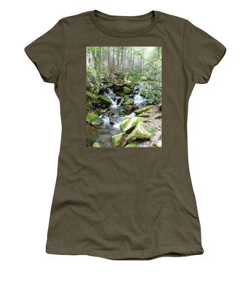 Near The Grotto Women's T-Shirt (Junior Cut) by Joel Deutsch