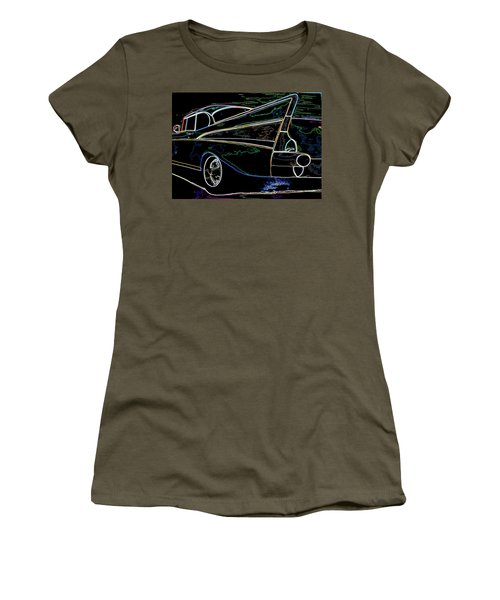 Neon 57 Chevy Bel Air Women's T-Shirt (Athletic Fit)