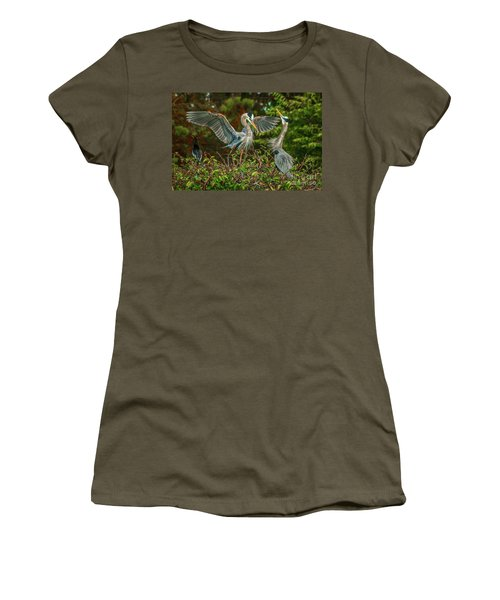 Nest Landing Women's T-Shirt (Junior Cut) by Tom Claud